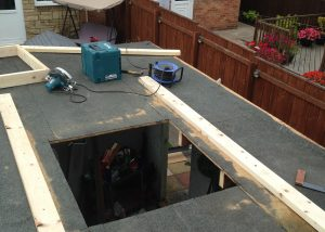 Flat Roof Skylight Installation Newcastle - Before