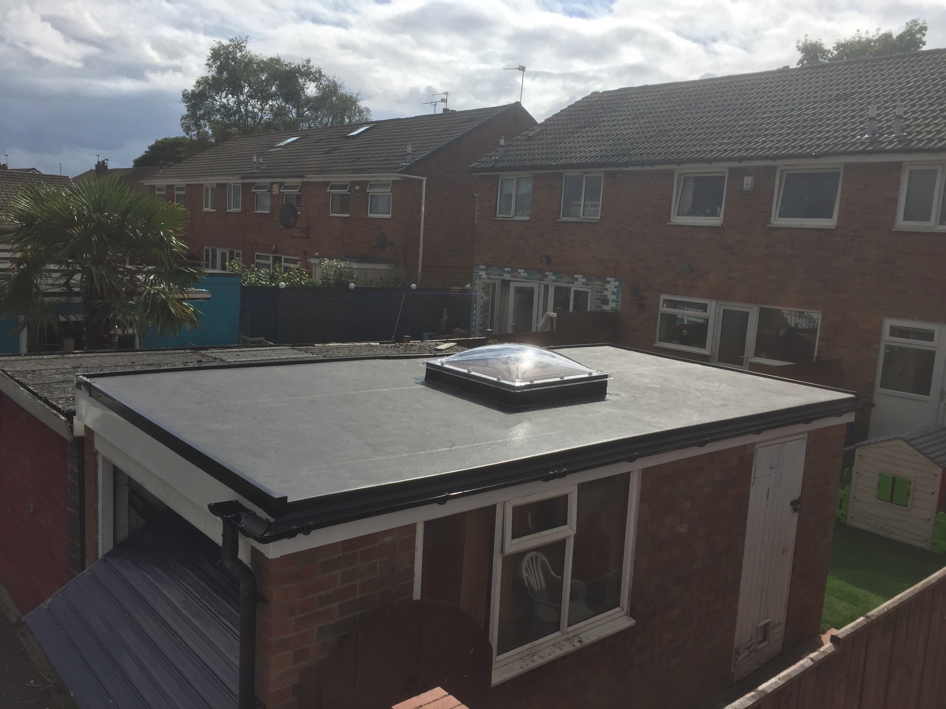 Flat Roofing in Newcastle Extension with Rooflight